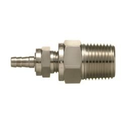 SUS316, Stainless Steel Double Ferrule Fitting, Male Bend Plug (Hose Nipple Type)