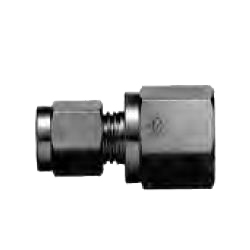Copper Tubing Double Ferrule Fittings, Female Connector (Straight Treaded Type)
