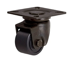 Low Floor Type Caster (MC Nylon Wheel) Swivel