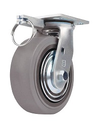 Caster for Heavy Loads (Rubber Wheel) Swivel