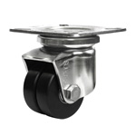 Stainless Steel Low Floor Dual Wheel Caster for Heavy Loads SUHJT