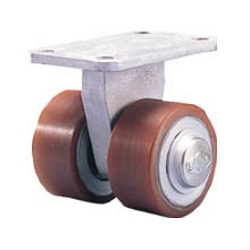 Dual Wheel Caster for Heavy Loads (Urethane Wheel) Fixed