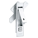 Flat Handle with Stainless Steel Push Button A-1261