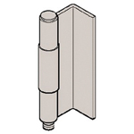 Stainless Steel Back Hinge with L Bend B-1524