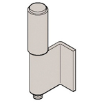 Stainless Steel L Type Back Hinge (2 Pipe) B-1526