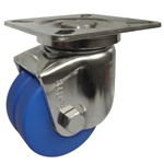 Stainless Steel Low Floor Swivel Caster for Heavy Loads Without Stopper (Dual Wheel Type) K-1508-W