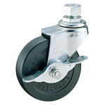 Screw Foot Swivel Caster with Stopper K-415A