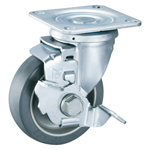 Gray Wheel Swivel Caster with Stopper K-612JS