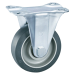 Gray Wheel Fixed Caster Without Stopper K-612K