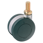 Screw Foot Dual Wheel Swivel Caster Without Stopper K-200GN
