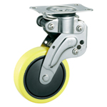 Stainless Steel Swivel Caster with Shock Absorber, Without Stopper K-1560G