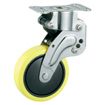 Stainless Steel Fixed Caster with Shock Absorber, Without Stopper K-1560R
