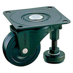 Swivel Caster with Adjuster Foot, Without Stopper K-100AF