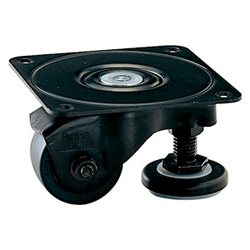Low Floor Type Swivel Caster for Heavy Weights with Adjuster Foot, Without Stopper K-100HB2-AF
