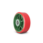 Wheel for Ductile Casters, for Marinas, Urethane Wheel (Gun Metal Bush Included, with Nipple / Nylon Bush Included) TULB-H/TULB-N