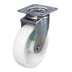 Nylon Caster, Stainless Steel Hardware, Swivel
