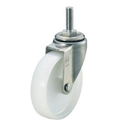 Screw-in Type Nylon Caster, Stainless Steel Hardware, Swivel
