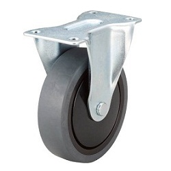 Quiet Caster, Elastomer Wheel, Fixed