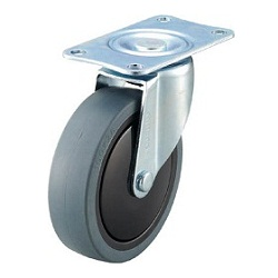 Quiet Caster, Elastomer Wheel, Swivel