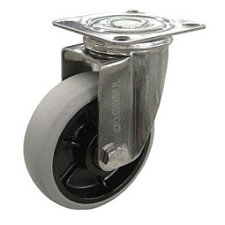 Nylon Wheel Urethane Caster, Stainless Steel Hardware, Swivel