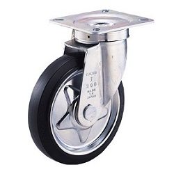 Press-Made Rubber Caster, Swivel