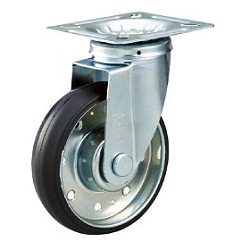 High Tensile Press-Made Rubber Caster with Swivel Hardware