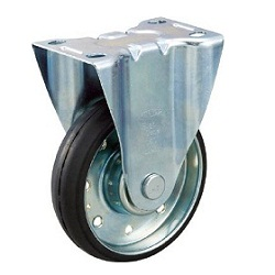 High Tensile Press-Made Rubber Caster with Fixed Hardware