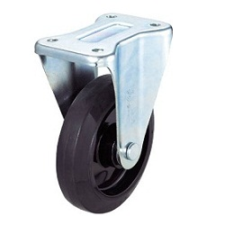 Press-Made Nylon Wheel Rubber Caster, Fixed