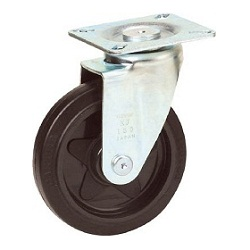 Press-Made Quiet Caster, Rubber Wheel, Swivel