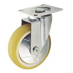 Press-Made Quiet Caster, Stainless Steel Hardware, Swivel
