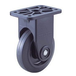 Quiet Caster, Nylon Wheel Rubber Wheel, Fixed