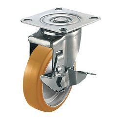 Vulkollan Stainless Steel Caster, Swivel