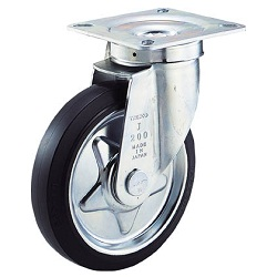 α-Press-Made Rubber Caster, Swivel