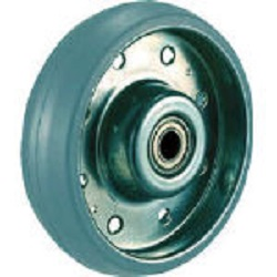 "Press-Made Gray Rubber Caster ""High Tensile Caster"" (Tire Mark-Less Type) Replacement Wheel"