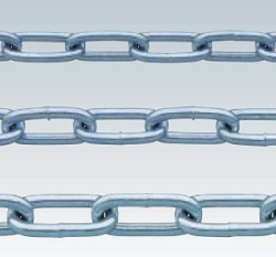 Bright Chromate Cut Chain (Welded Type)