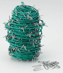 Barbed Wire (Low Carbon Steel / Vinyl Coated Type)