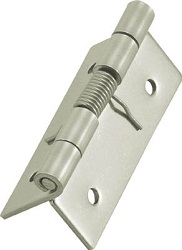 Stainless Steel Spring Hinge Wooden Screw-Mounted Type