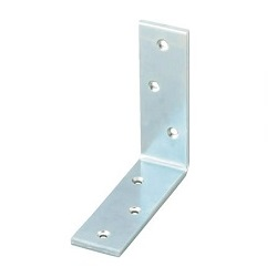 Bright Chromate Wide Metal Bracket (Steel)