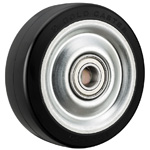 Wheel for Dedicated Caster H Series, Rubber Wheel for Heavy Loads H-RB (GOLD CASTER)