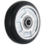 Wheel for Dedicated Caster W Series, Conductive Rubber Wheel for Medium Loads W-RBE (GOLD CASTER)