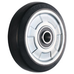 Wheel for Dedicated Caster W Series, Rubber Wheel for Medium-Light Loads W-RB (GOLD CASTER)