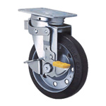 General Caster, Steel, Medium Load Plate Type S Series, Side Pedal Type Swivel/Fixed Switchable SJ-KS (GOLD CASTER)
