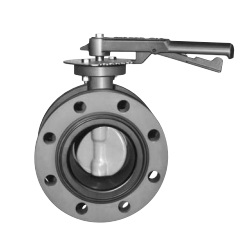 10K/16K Flange Type Butterfly Valve <Spherical Graphite Cast Iron> - Lever Type 10K Flange Type Rubber Sheet