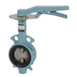 16K Nodular Graphite Cast Iron Wafer-Shaped, Rubber Seated Butterfly Valve