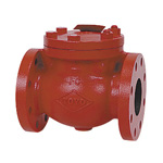 10K Type, Cast Iron F-Type Rubber Seat Swing Check Valve