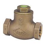 J10K Lead Free Bronze Screw Down Swing Check Valve (Metal Sheet) (JIS B 2011) <<This Product Displays The New JIS Mark.>>