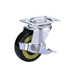 Conductive Type 100Es Truck Type Conductive Wheel, Synthetic Rubber Wheel with Stopper (Packing Caster)