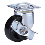 Medium Class 100FH-Ps Truck Type Special Synthetic Resin Wheel for Medium Weights with Stopper (Packing Caster)