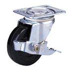 Standard Class 100s Truck Type Synthetic Rubber Wheel with Stopper (Packing Caster)