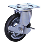 Synthetic Rubber Wheel (Packing Caster) with Standard Class 100 PRs Track Type Stopper